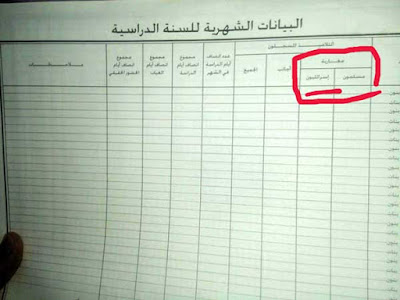 طلب سحب وثيقة رسمية تصنف التلاميذ المغاربة على أساس ديني وتكرس التطبيع مع الكيان الصهيوني