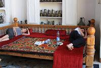 Ouzbékistan, Samarcande, hôtel Legend, tapchane, © L. Gigout, 2012