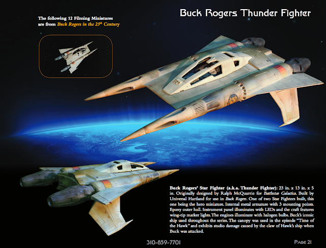 Original Buck Rogers filming miniature model