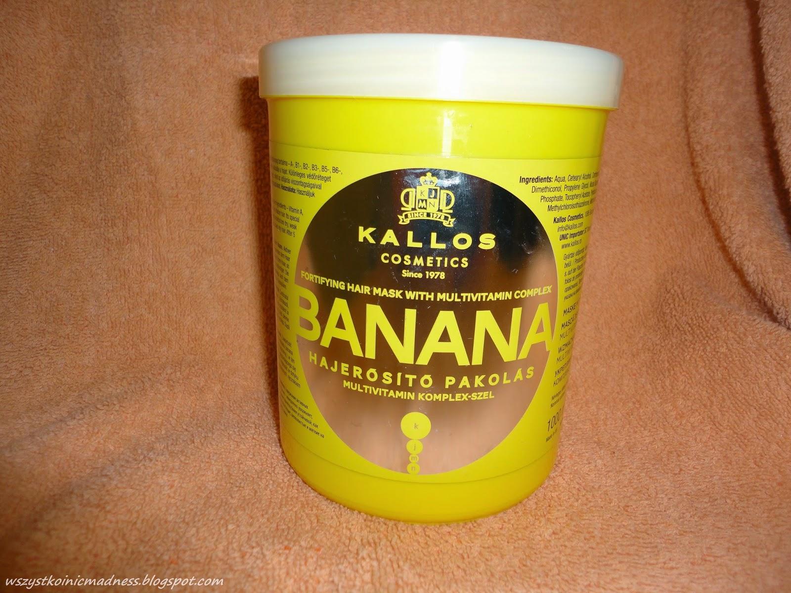 Kallos maska do włosów Banana - opinia, skład.