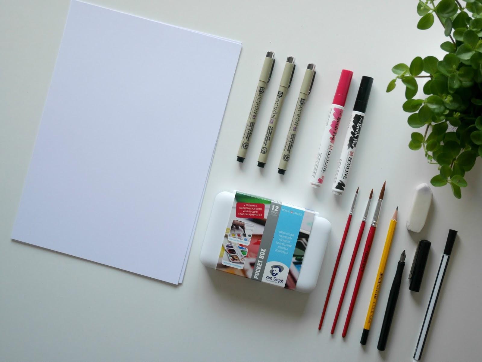 Handlettering materialen