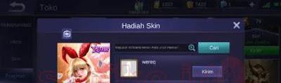 Cara Kirim Skin Gratis Mobile Legend Terbaru