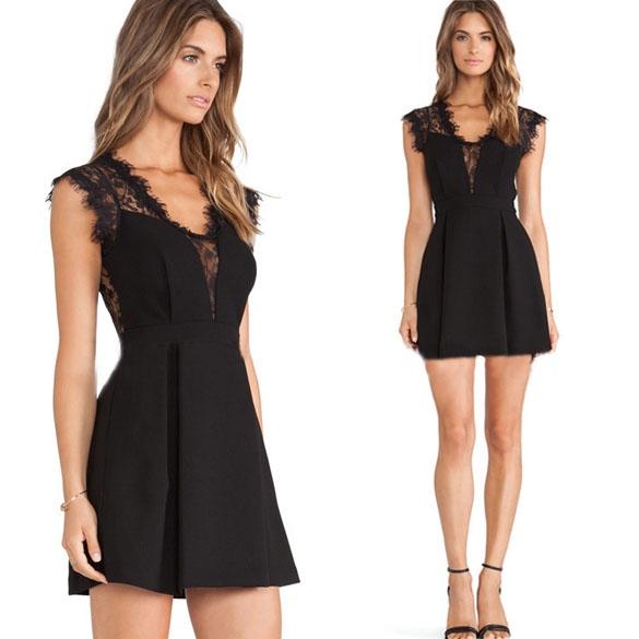 Vestido corto, negro y elegante para el verano. | Vestidos baratos online.