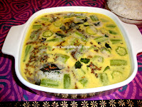 Mor Kuzhambu recipe / Vendakkai More Kuzhlambu / Vendakkai Mor Kulambu recipe/Okra In Buttermilk Gravy recipe / South Indian Spiced Buttermilk Curry
