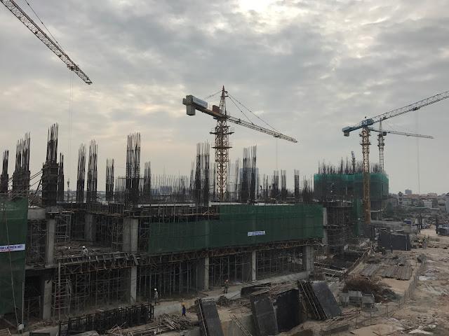 Tiến độ xây dựng tòa CT2A dự án Gelexia Riverside
