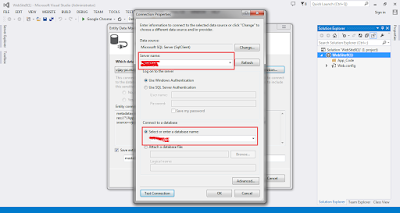 How to set up ADO.net Entity Framework project or website in asp.net