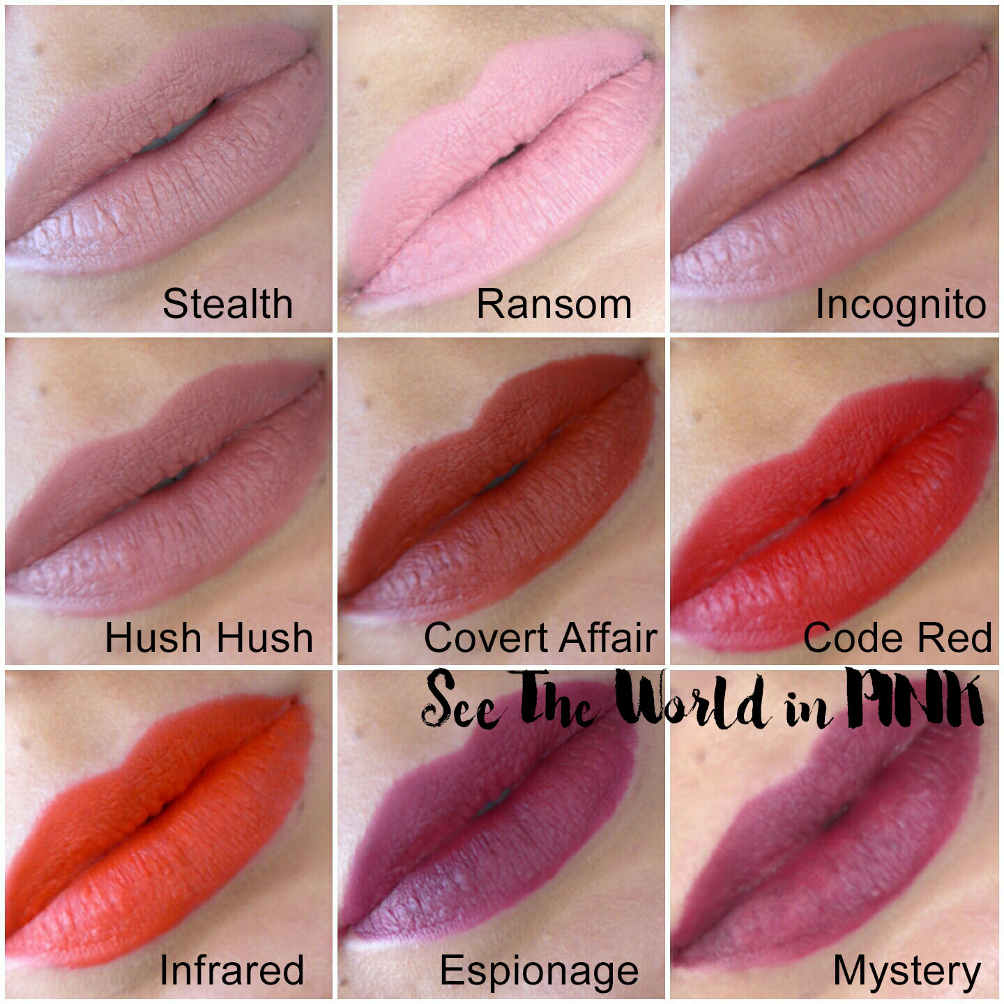 Buxom Plumpline Lip Liners - Swatches and Review!