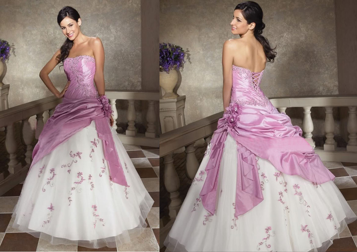 Pink Wedding Gown: Wallpapers Background: Bridal Wedding Dressing