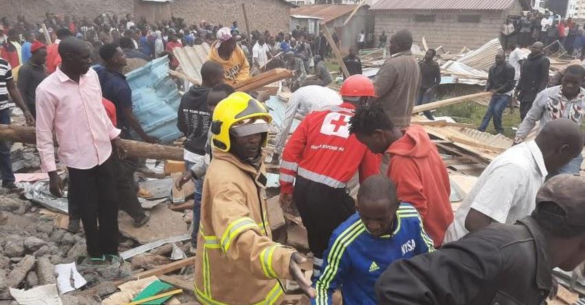 TRAGEDIA EN KENIA: El derrumbe de aula deja al menos 7 alumnos fallecidos en la capital Nairobi
