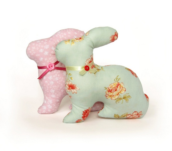 Spring bunnies, игрушки, sewing, toy