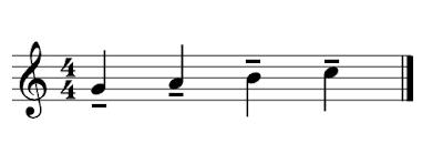 4 figuras con el tenuto siempre en el lado contrario al de la plica