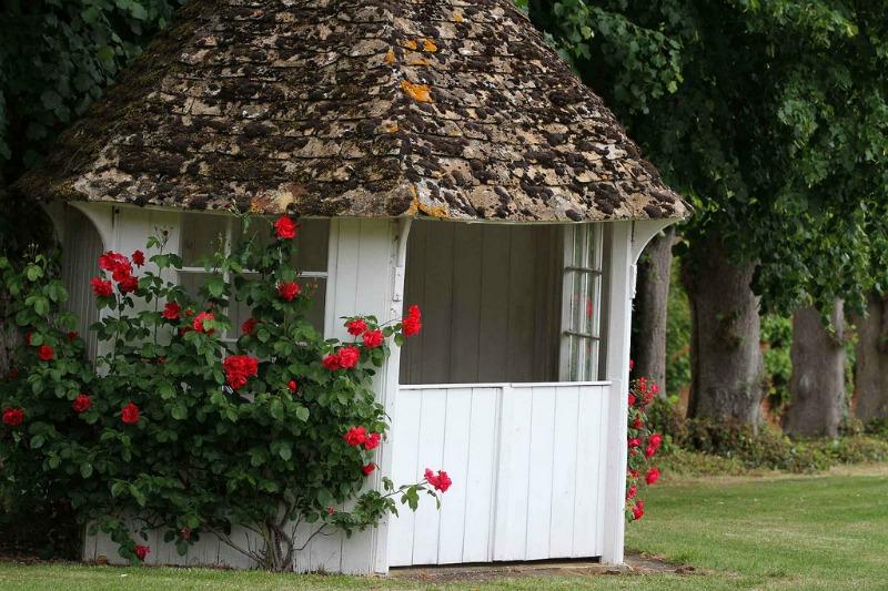 cobertizo del jardín inglés