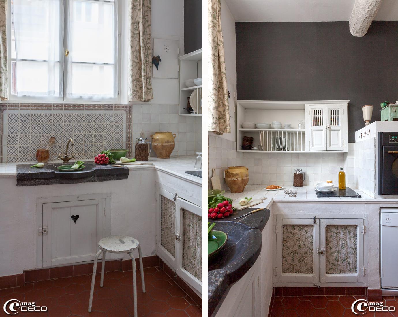 cuisine moderne avec tomettes inspiration de conception de maison. Black Bedroom Furniture Sets. Home Design Ideas