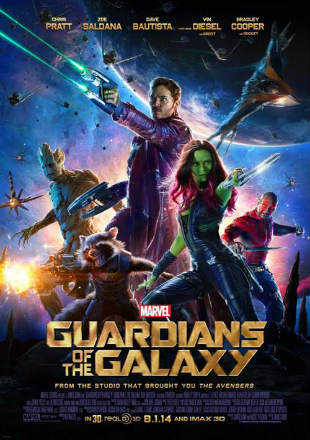 Poster of Guardians Of The Galaxy (2014) BRRip 720p Dual Audio In Hindi English Free Download Full Movie