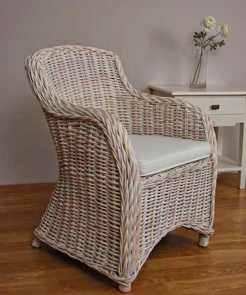 Sillon Rattan decape blanco