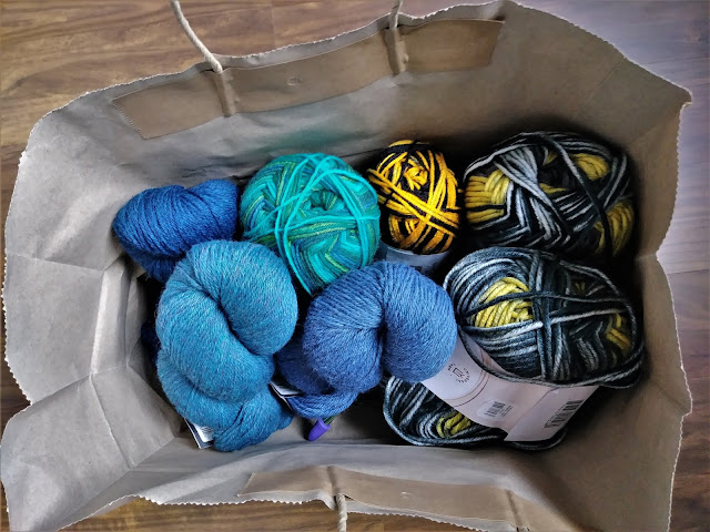 My most recent yarn haul from The Center of the Yarniverse