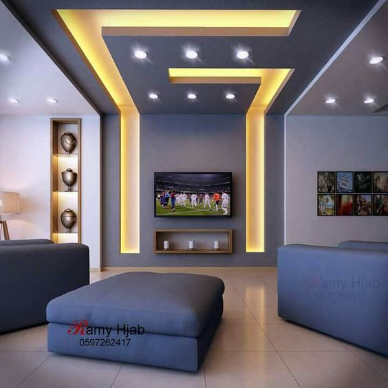 Modern Interior Decoration Living Rooms Ceiling Designs: 50 Indian POP Ceiling Design Ideas For Modern Home