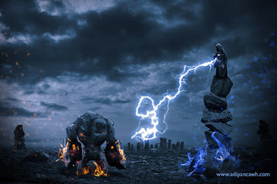 Golem vs Wizard by Adi Panca Wh