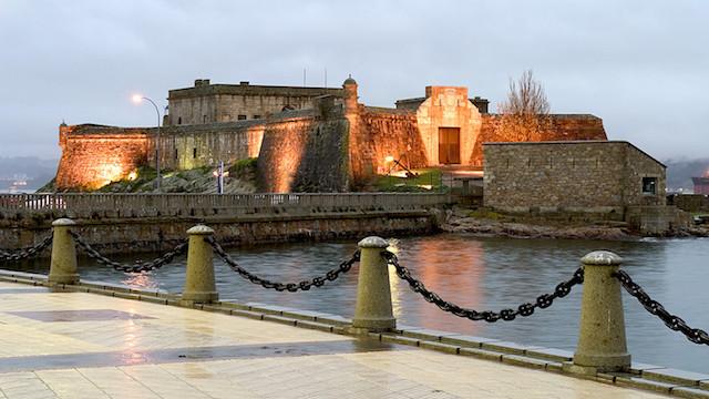 Castelo de San Antón em La Coruña
