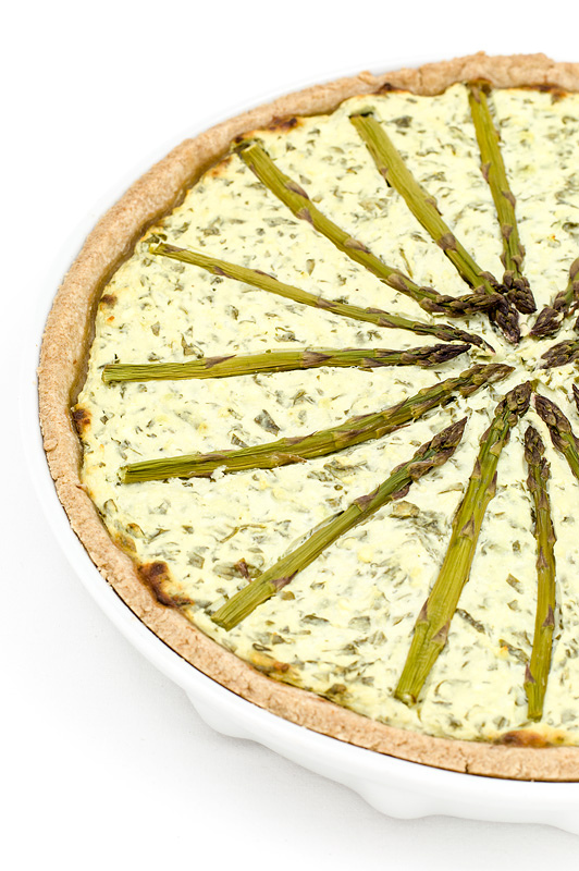 Špargljeva pita leva polovička