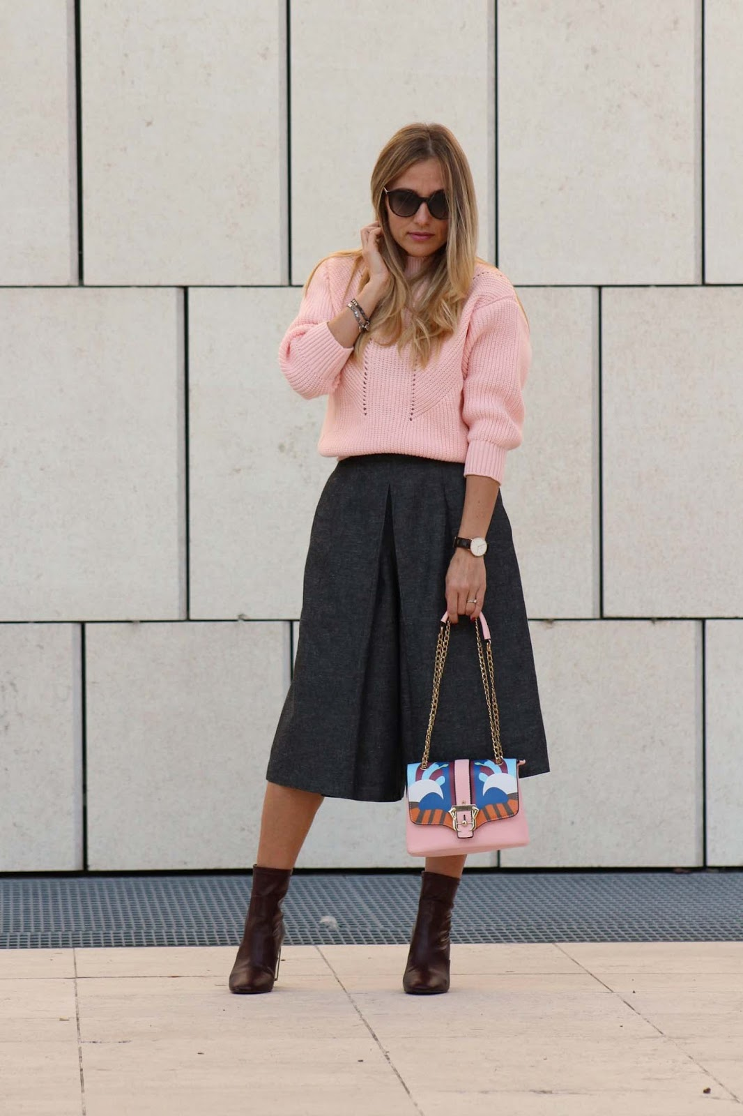 Eniwhere Fashion - Pink sweater - Zaful - Fall's outfit