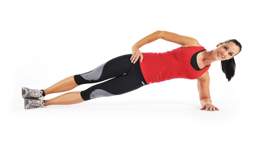Side plank hold (3 sets) | Health and Fitness Bible