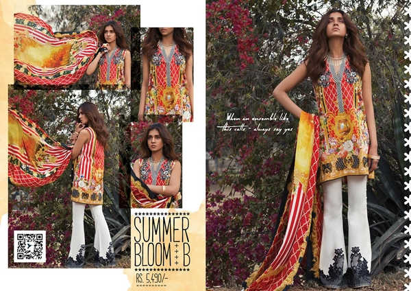 Sapphire Unstitched Lawn 2017 Vol.2 Collection