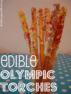 edible torches for olympics party