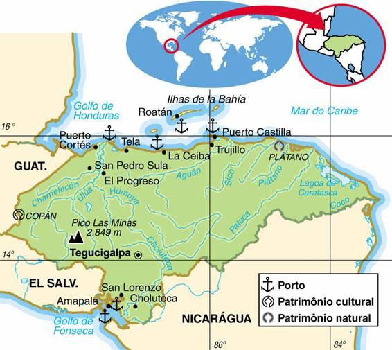 HONDURAS, ASPECTOS GEOGRÁFICOS E SOCIOECONÔMICOS DE HONDURAS