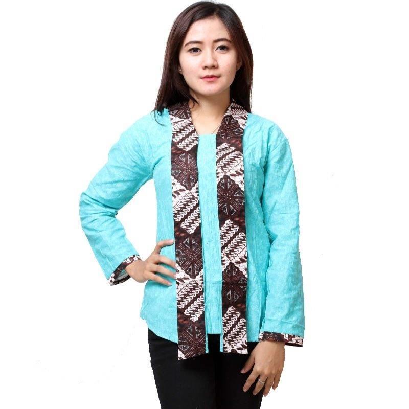 Model Baju Batik Modern Untuk Kerja: 15 Batik Kerja Modern Lengan Panjang 2018, Update!