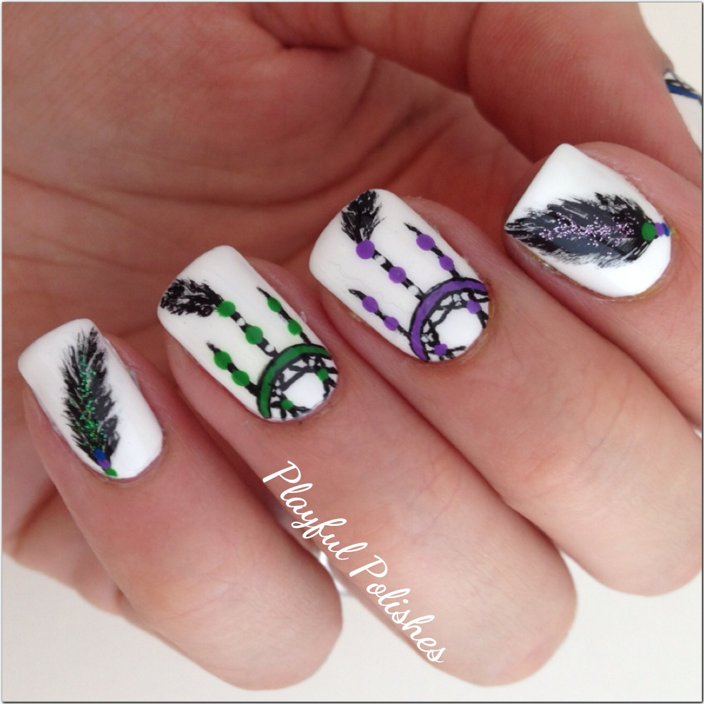 Playful Polishes Dream Catcher Nail Art