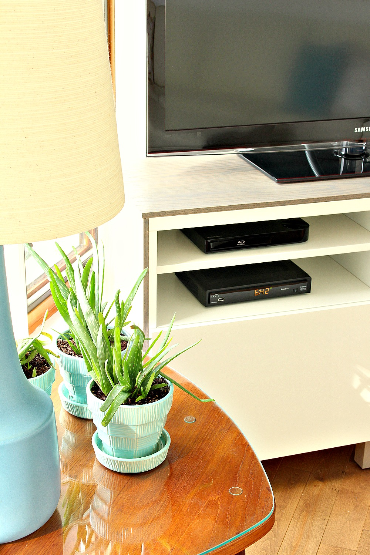 Ikea Besta Hack - Attach Plywood to Ikea Besta