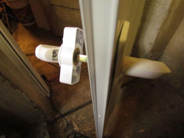 Basement Door Renovation, Pt 6, Mounting The Handle