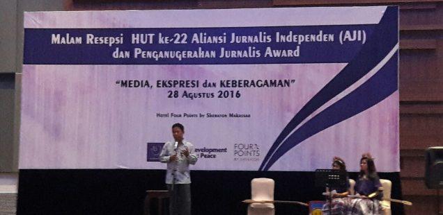 Rayakan Ultah AJI Makassar, sejumlah jurnalis diberi penghargaan
