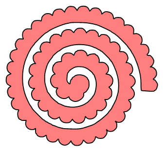 Spiral Rose Technique Tutorials - Spiral SVG