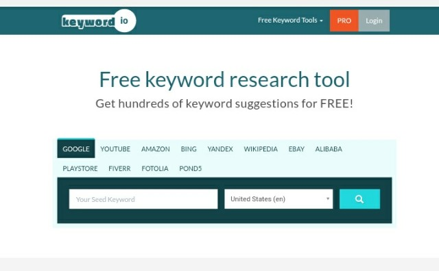 keyword.io long tail Keyword generator
