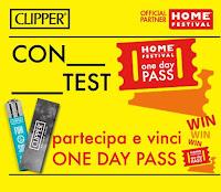 Logo Gioca e vinci gratis e vinci i pass one day per Home Festival