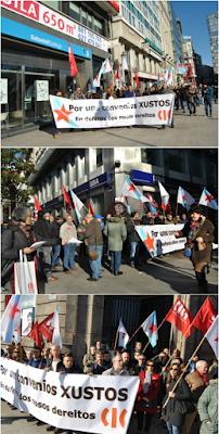 concentración dos delegados e delegadas da CIG na Coruña (1/12/2015)