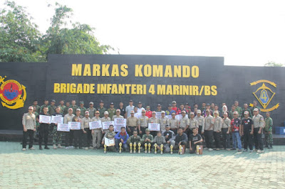 Komandan Brigif 4/BS Tutup Kejuaraan Marine Shooting Club (MSC)