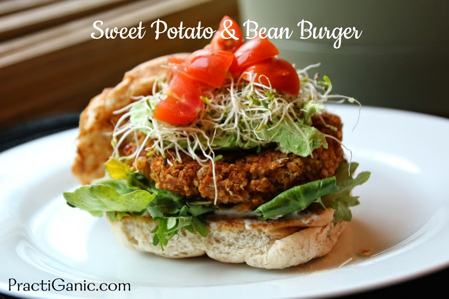 Vegan Sweet Potato & Bean Burgers