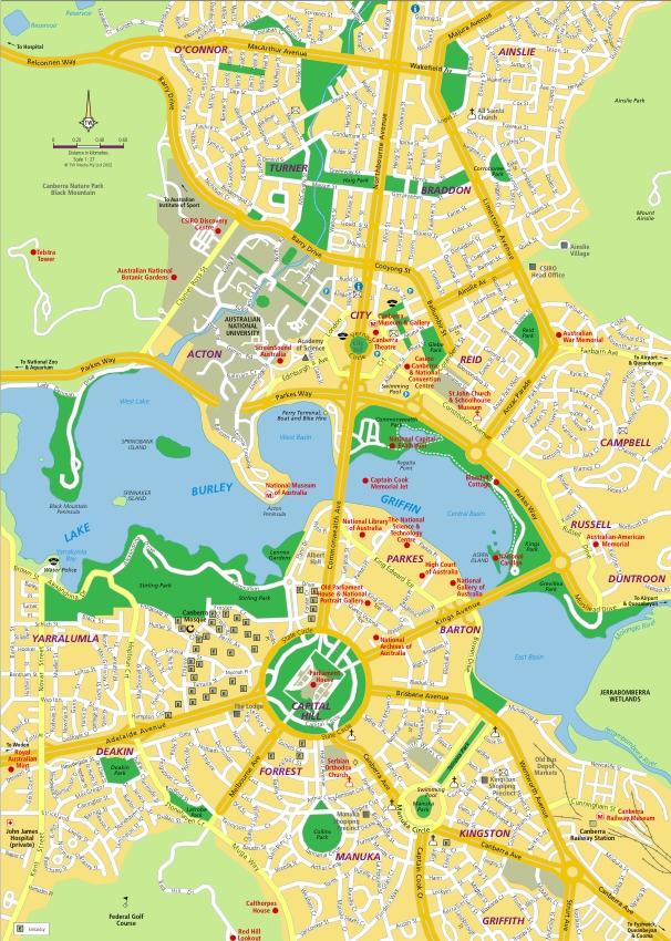 map to canberra