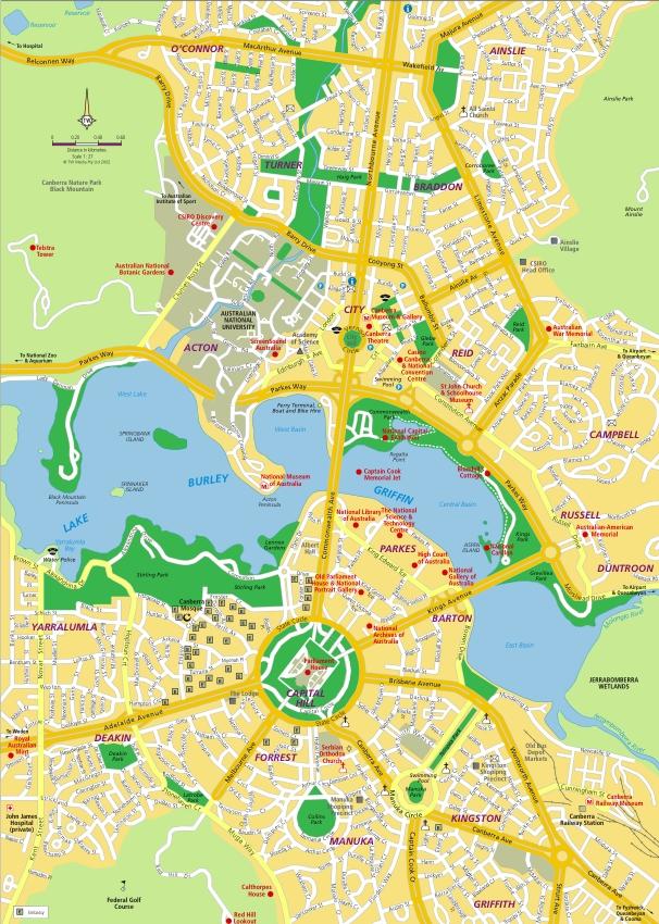 map world canberra