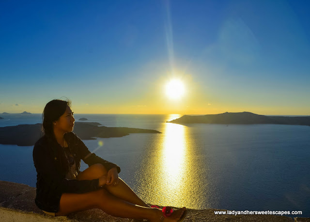 sunset watching in Fira