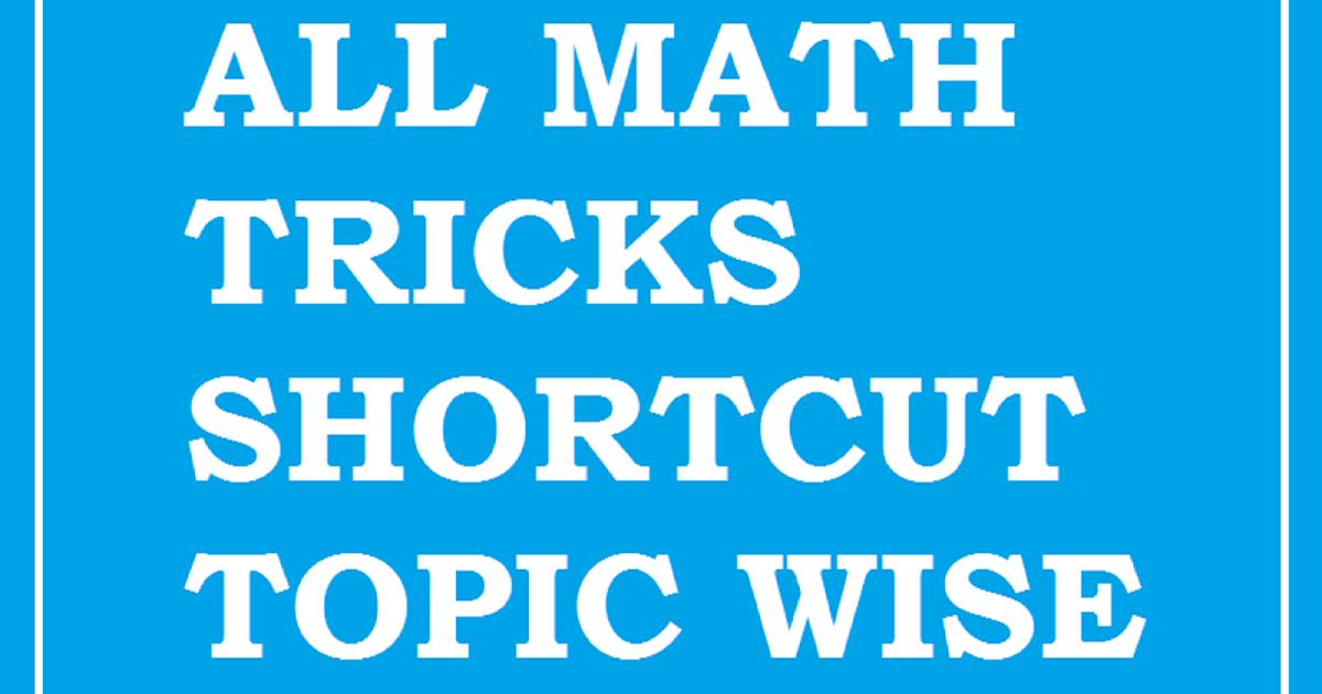Math Short Tricks Book
