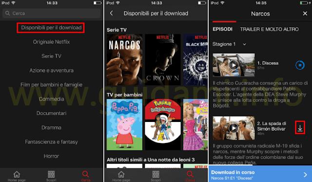 App Netflix iOS Anroid Disponibile per il download