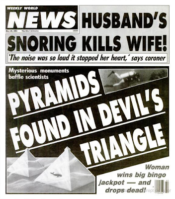 Il Weekly World News del 28 maggio 1991