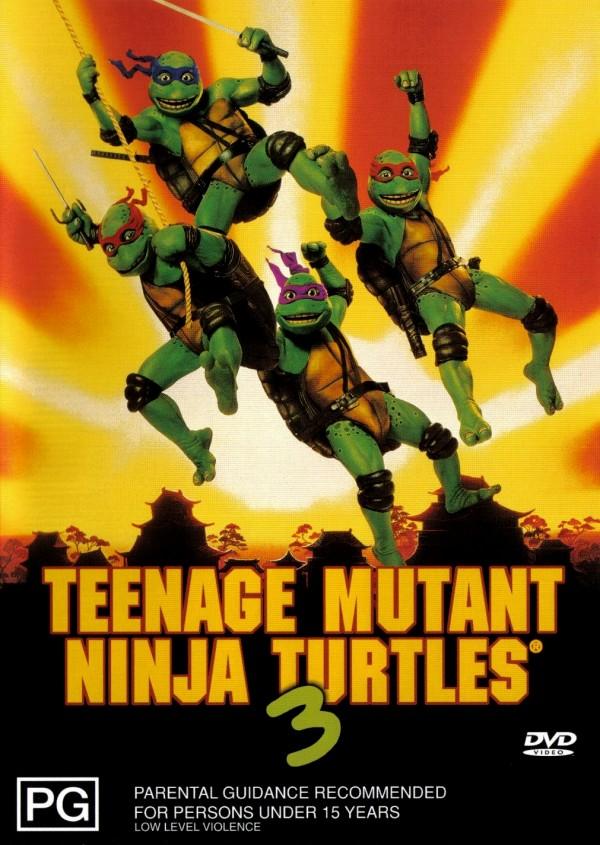 teenage mutant ninja turtles 3 dvd cover