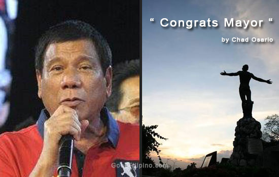 A Sarcastic Open Letter to Duterte: 'Congrats Mayor' by UP Law Student