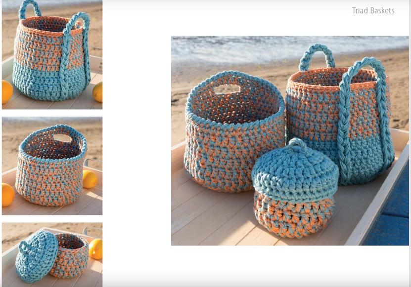 Triad Crochet Baskets Pattern