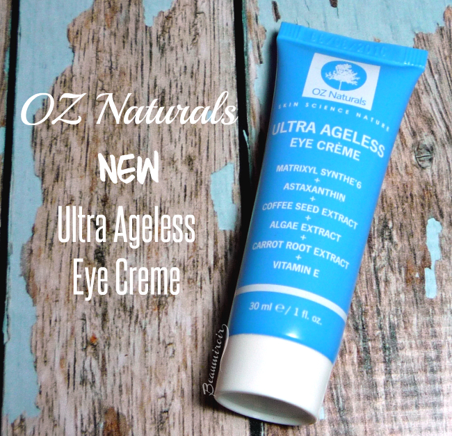 Review, photos, swatches of the new OZ Naturals Ultra Ageless Eye Crème, an anti-aging eye cream.